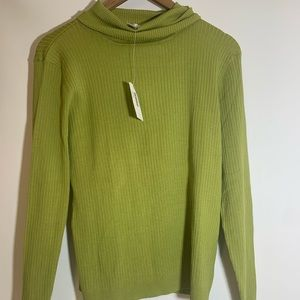 Chico's Womans green turtle neck